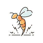 Bee venom RGB color icon