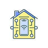 Remote access RGB color icon