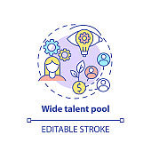 Wide talent pool concept icon