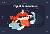 Business topics - project collaboration, web template