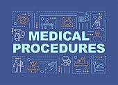 Medical procedures word concepts banner