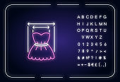 Product width neon light icon