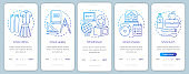 Education onboarding mobile app page screen vector template. Knowledge gaining, school learning walkthrough website steps with linear illustrations. UX, UI, GUI smartphone interface concept