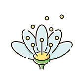 Pollen RGB color icon
