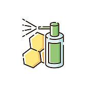 Propolis mouth spray RGB color icon