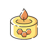 Beeswax candle RGB color icon