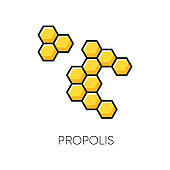 Propolis RGB color icon. Honey combs. Hive cell. Acne treatment component. Beekeeping, beeswax. Healing skincare. Agriculture. Korean beauty cosmetic ingredient. Isolated vector illustration