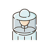 Beekeeper suit RGB color icon