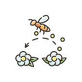 Pollination RGB color icon