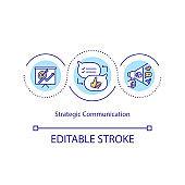 Strategic communication concept icon