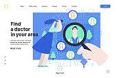 Find a doctor - medical insurance illustration