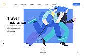 Travel insurance - medical insurance illustration