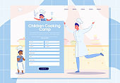 Children Cooking Camp Online Registration Banner.