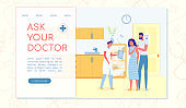 Ask Your Doctor Flat Landing Page with Copy Space