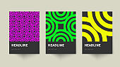 Set of creative Posters in Bauhaus style