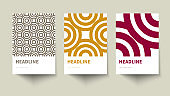 Set of creative geometric vip posters