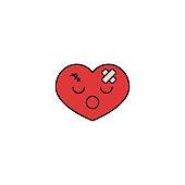 Heart attack heart icon