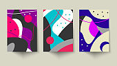 Creative poster with artistic geometric shapes