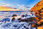 Sea BB Rocks Wave south sun