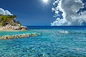 Clear Caribbean Water in the Tropics