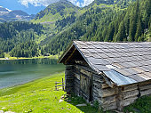 Very old barn, Duisitzkarsee Lake in Austria.