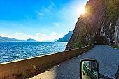 Old tunnel on norwegian mountain road