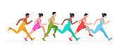 Jogging people