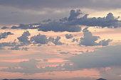 Close Up Of Clouds Against Dramatic Sunrise