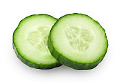 Cucumber slices, cut out