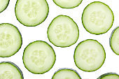 Cucumber slices background.