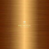 Gold metallic metal polished background and texture.