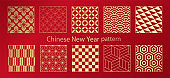 Chinese New Year, China, Chinese New Year, New Year, Japanese pattern material, traditional pattern, pattern, set, Japanese pattern