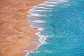 Top view of the beach. Nature background