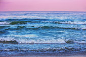 Seascape in the evening. Sunset over the sea