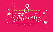 Womens day pink banner
