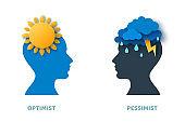 Optimist and pessimist concept