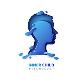 Human head with inner child