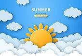 Summer day banner