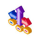 Choice Decision isometric icon vector illustration