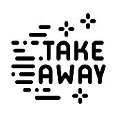 take away icon vector outline illustration