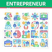 Entrepreneur Business Collection Icons Set Vector