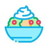 mayonnaise salad icon vector outline illustration