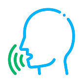 Human Voice Control Icon Vector Illustration