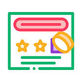Number Guessing Sheet Icon Vector Outline Illustration