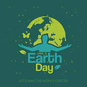 Happy Earth Day Poster Design Template