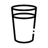 glass of milk icon vector outline illustration