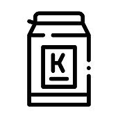 can of kefir icon vector outline illustration