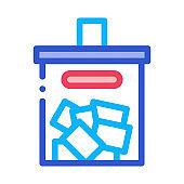 Ballot Box Icon Vector Outline Illustration