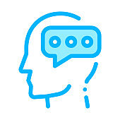 Typing Message And Man Silhouette Mind Vector Icon