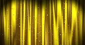 Golden Merry Christmas background with golden stars and color confetti. Walpaper Valentine's day. 3d render
